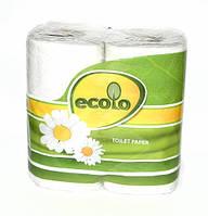 RUTA Туалетная бумага Ecolo 4 рулона✵ Бесплатная доставка