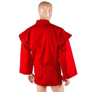 Самбовка куртка Mizano красная р-р 160см. 500г/м2 SMR-58160, фото 2