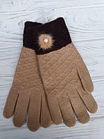 Женские перчатки с пушком