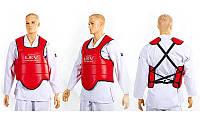 Защита груди (жилет) двухсторонний Кожзам Лев LV-4282