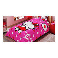 Детский комплект постельного белья Tac Disney Hello Kitty Pink простынь на резинке