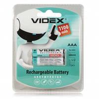 Аккумулятор videx ААА 1100mah 1.2v 2шт. на блистере