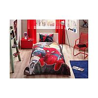 Детский комплект постельного белья Tac Disney Spiderman in city простынь на резинке