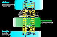 Подмостки мобильные облегченные 1,6х0,8 кол-во секций + базовый блок 1+1