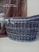 Плетеная корзина интерьерная, фото 1