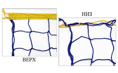 Сетка для волейбола узловая Элит15  (р-р 9x0,9м, ячейка 15x15см) SO-5271, фото 2