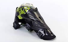 Мотозащита (колено, голень) 2шт SCOYCO K12-G (пластик, PL, черный-салатовый), фото 3