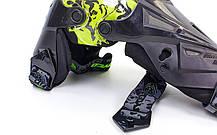 Мотозащита (колено, голень) 2шт SCOYCO K12-G (пластик, PL, черный-салатовый), фото 2