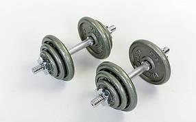 Гантели стальные 2шт. по 10кг. TA-1920-20