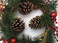 Венок рождественский элитный фартовый  35 см