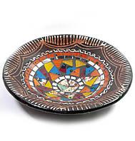 Блюдо терракотовое с мозаикой (d- 20 h-4 см)