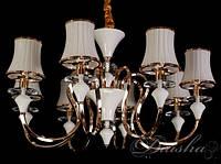 Люстра с классическими стеклянными абажурами R-5459-8