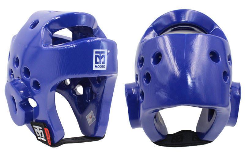 Шлем для таеквондо синий PU MOOTO BO-5094-B