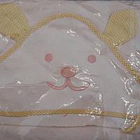 Махровое полотенце для купания с капюшоном Ушки