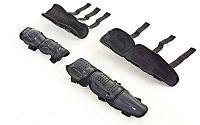 Комплект мотозащиты (колено, голень + предплечье, локоть) 4шт FOX M-6337 (пластик, PL, черный)