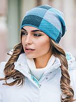 Модная молодежная женская шапка с флисовой подкладкой