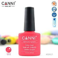 Гель-лак Canni 111 яркий оранжево-розовый