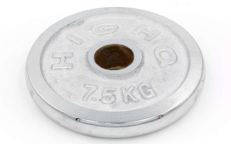 Блины для штанги хром 7,5кг(диам. 52мм) ТА-1838