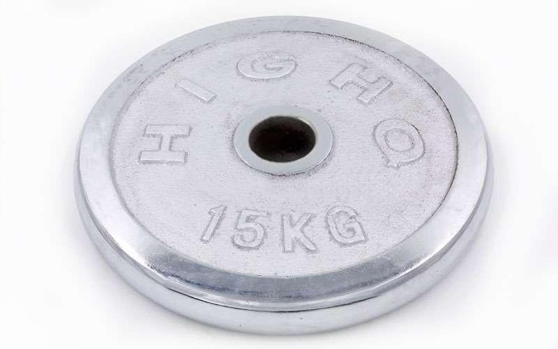Блины для штанги хром 15кг(диам. 52мм) ТА-1457