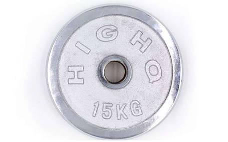 Блины для штанги хром 15кг(диам. 52мм) ТА-1457, фото 2