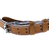 Пояс штангиста широкий коричневый BWS B16025, фото 2