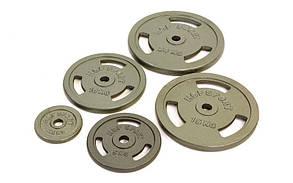 Блины стальные с хватом 5кг (диам. 30мм) TA-8030-5, фото 2