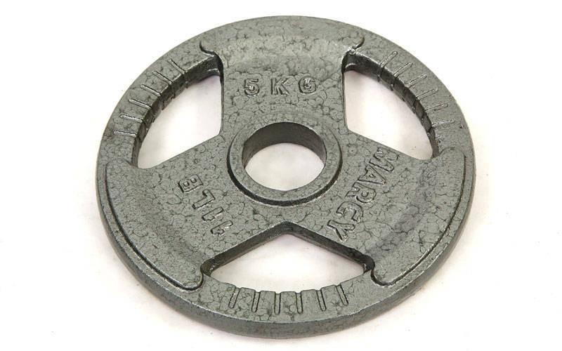 Блины стальные с хватом 5кг (диам. 52мм)