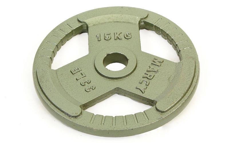 Блины стальные с хватом 15кг (диам. 52мм) TA-8026-15
