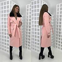 Женское стильное зимнее  пальто из кашемира, в расцветках