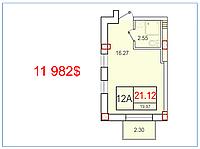 "1 комнатная квартира 21,12 метров ЖК ""SMART"" , Одесса"