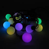 Новогодняя гирлянда с фигурками, шарики большие 20 LED 4,5 метра