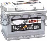 Bosch S5 005 Silver Plus 63 Ah 610 A аккумулятор (-+, R), 2018 год (0092S50050)