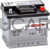 Bosch S3 002 Black 45 Ah 400 A аккумулятор (-+, R), 2019 год (0092S30020)