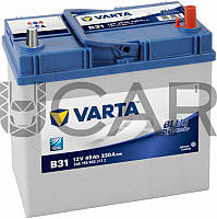 Varta Blue Dynamic B31 45 A-h 330 A аккумулятор (-+, R) Asia тонкие клеммы, 2017 год (545155033)