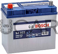 Bosch S4 023 Silver 45 Ah 330 A аккумулятор (+-, L) Asia, 2018 год (0092S40230)