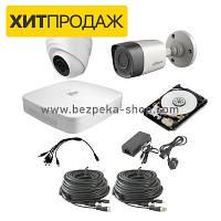 Комплект видеонаблюдения KIT-DVR-1x1 HD STANDART+HDD