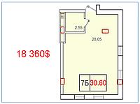 """1 комнатная квартира 30,60 метра ЖК """"SMART"""" , Одесса"""