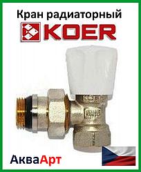 Koer вентиль радиаторный антипротечка угловой 1/2x1/2 (KR.901-Gi)