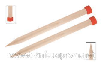 Спицы прямые 35 см Jumbo Birch KnitPro