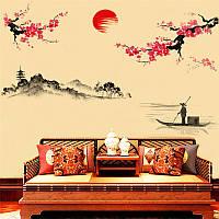 Виниловые наклейки Японская сакура