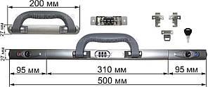 Комплект кодовый замок + ручка КДР12 серый