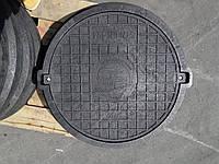 Люк серии ЕВРО нагрузка 12.5т черный с замком, фото 1
