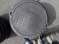 Люк серии ЕВРО нагрузка 25 т. черный с замком, фото 1