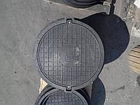 Люк серии ЕВРО нагрузка 40 т. черный с замком, фото 1