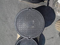 Люк серии ЕВРО нагрузка 40 т. черный с замком