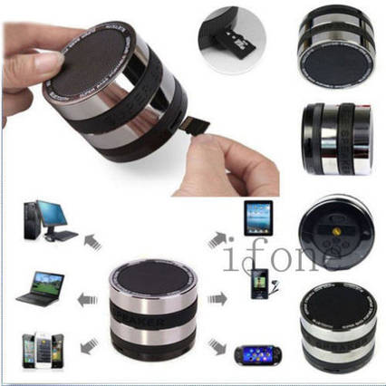 Мини беспроводной динамик колонка Bluetooth Speaker для iPhone 4 4S 5 5S 4 4G 4S iPod IPad MP3 Samsung, фото 2