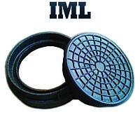 Крышка колодца (канализационная) полимер-песчаная Garden черная до 1,5т 315мм