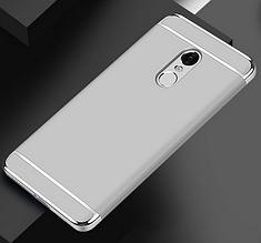 Защитный чехол бампер для Xiaomi Redmi Note 4 серебристый