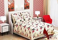 Комплект постельного белья (1.5сп) RC374 полуторный бязь