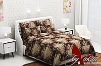 Комплект постельного белья (1.5сп) RC6887braun полуторный бязь